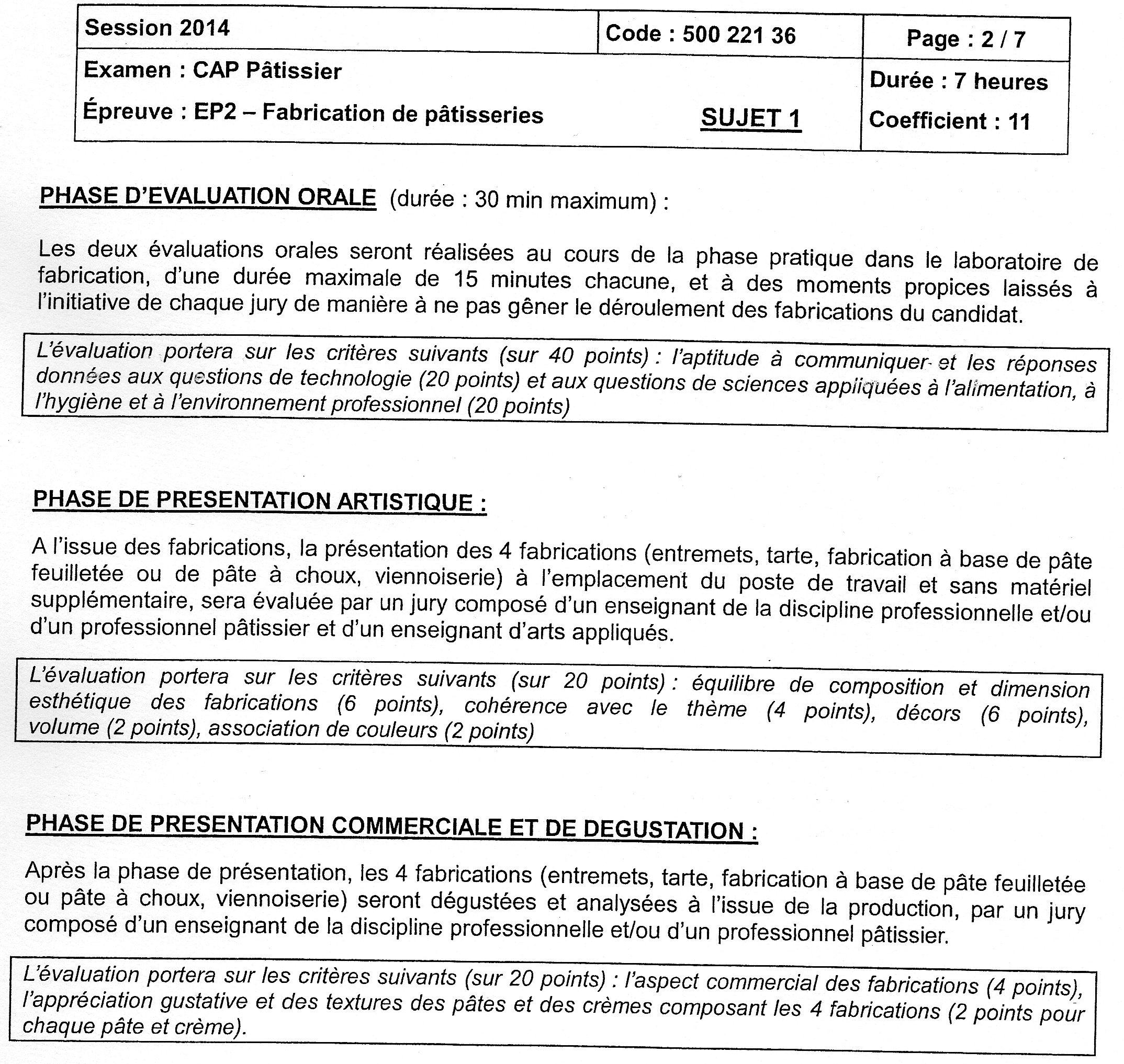 Sujets d 39 examen - Coefficient bac pro cuisine ...